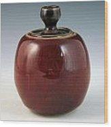 Cherry Jar Wood Print