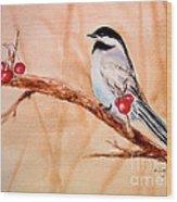 Cherry Picker Wood Print