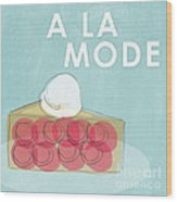 Cherry Pie A La Mode Wood Print by Linda Woods