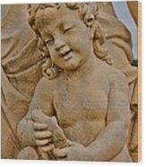 Cherub At Biltmore Estate Wood Print