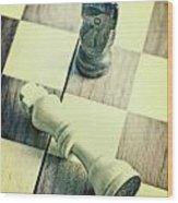 Chess Wood Print by Joana Kruse