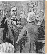 Chester Alan Arthur Wood Print