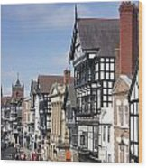 Chester City Centre Wood Print