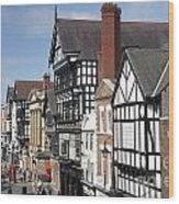 Chester City Skyline Wood Print
