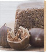 Chestnut Cake Wood Print by Frank Tschakert