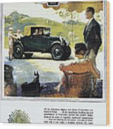 Chevrolet Ad, 1927 Wood Print