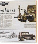 Chevrolet Ad, 1929 Wood Print