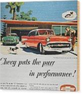 Chevrolet Ad, 1957 Wood Print