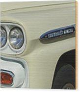 Chevrolet Apache 31 Fleetline Headlight Emblem Wood Print