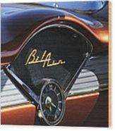 Chevrolet Belair Dashboard Clock And Emblem Wood Print