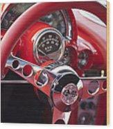 Chevrolet Corvette Steering Wheel Wood Print