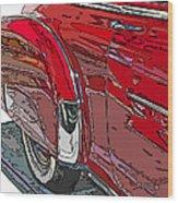 Chevrolet Fleetline Deluxe Rear Wheel Study Wood Print