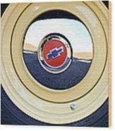 Chevrolet Wheel Emblem Wood Print