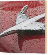 Chevy Bel Air Nomad Hood Ornament Wood Print