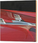 Chevy Bel Aire Hood Ornament Wood Print