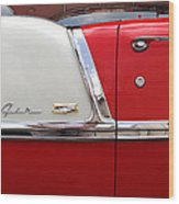 Chevy Belair Classic Trim Wood Print by Mike McGlothlen