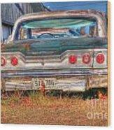 Chevy Blue Wood Print