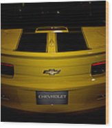 Chevy Camaro Covertible Rs Tail Wood Print