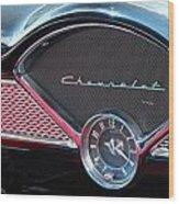 Chevy Dash Clock Wood Print