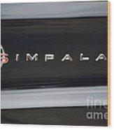 Chevy Impala Ss Emblem Wood Print