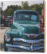 Chevy In Green Wood Print