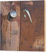 Chevy Truck Door Handle Detail Wood Print