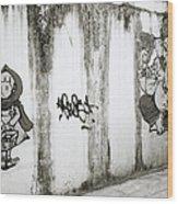 Chiang Mai Graffiti Wood Print