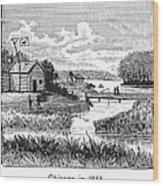 Chicago, 1833 Wood Print
