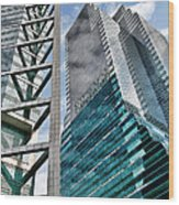 Chicago - A Sophisticated Finance Hub Wood Print by Christine Till