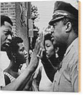 Chicago African American Policeman Wood Print