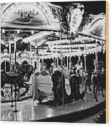 Chicago Carousel Wood Print