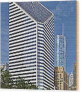 Chicago Crain Communications Building - Former Smurfit-stone Wood Print