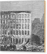 Chicago: Fire, 1868 Wood Print