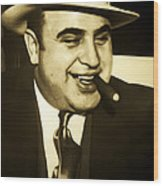Chicago Gangster Al Capone Wood Print