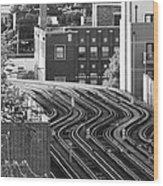 Chicago L Tracks Wood Print