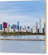 Chicago Panarama Skyline Wood Print