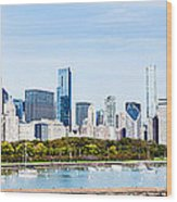 Chicago Panorama Skyline Wood Print by Paul Velgos