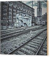 Chicago Rail Station Wood Print