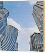 Chicago - Skyscrapers Are Looking Down On Us Wood Print
