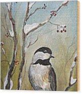 Chickadee Part 1 Wood Print
