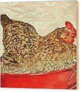 Chicken Hen Painting Art Print Wood Print