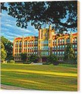 Chicopee High School Chicopee Wood Print