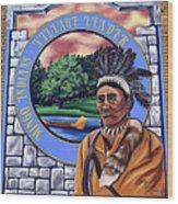 Chief Logan Wood Print