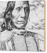 Chief-red-cloud Wood Print