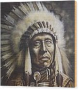 Chief Wood Print by Tim  Scoggins