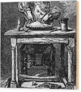 Child Eating, 1875 Wood Print