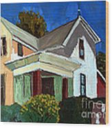 Childhood Home Plein Air Wood Print by Charlie Spear
