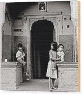 Childhood In Jaipur  Wood Print