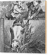 Children, 19th Century Wood Print