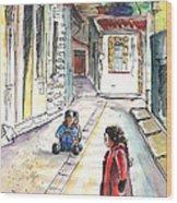 Children In Nicosia Wood Print